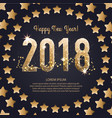 template of a square banner for a happy new vector image