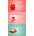 Vintage valentine day postcards vector image vector image