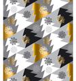 Elegant Christmas tree seamless geometry pattern vector image