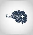 neurology logo icon template vector image