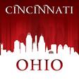Cincinnati Ohio city skyline silhouette vector image