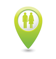 womenANDman GREEN map pointer vector image vector image