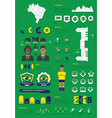 Brazil infographic set vector image