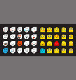 78 smileys vector image