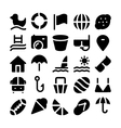 Summer icons 5 vector image