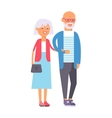 Old couple people vector image