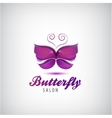 butterfly logo Spa salon icon vector image
