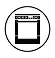 Kitchen main stove unit icon vector image