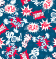 Comic book action words seamless pattern vector image