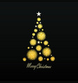 gold christmas tree vector image