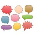 Leather speech bubbles vector image