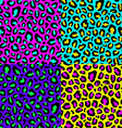 Leopard seamless pattern 80s1 vector image
