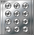 Metal phone keypad vector image