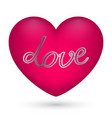 pink heart with text love vector image