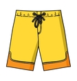 Swimming trunks icon in cartoon style isolated on vector image