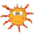 The cheerful sun Cartoon vector image