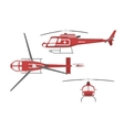Medical helicopter in flat style vector image