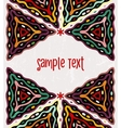 Colorful ethnic background vector image vector image