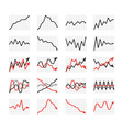 Graphic business ratings and charts collection vector image vector image