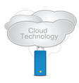 cloud technology vector image vector image