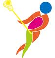 Sport icon design for lacrosse in color vector image