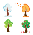 all season tree icons set vector image