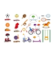 Childrens sports equipment vector image