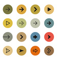 Colorful arrows icon set vector image