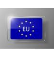 European Union Flag Glossy Button vector image
