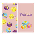 gift voucher template banner vector image
