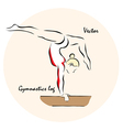Gymnastics log vector image