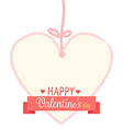 happy valentines day ribbon vector image