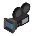 Movie camera isometric 3d icon vector image