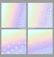 set of holographic backgrounds imitation of a vector image