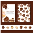 Template with chocolate muffins vector image