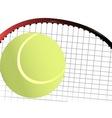 Tennis Ball and Racket vector image