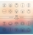 Set of jewelry icons vector image