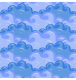 Seamless of clouds in different colors of blue vector image