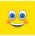 smiling square emoji vector image vector image