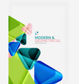modern colorful geometrical triangles with shiny vector image