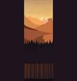 landscape monochrome brown vector image
