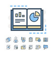 modern thin line icons set of project planning and vector image