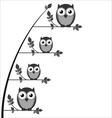 OWL FAMILY TREE vector image