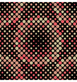 Halftone Circle Tiles Warm Colors Seamless Pattern vector image vector image