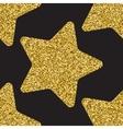 Gold glitter stars texture vector image