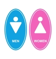 Men and women white sign vector image