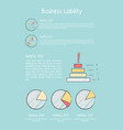 business liability analysis vector image