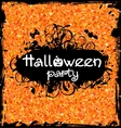 Grunge Dirty Frame for Halloween Party vector image