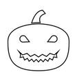 horror pumpkin it is black icon vector image