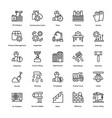 industrial and construction line icon set 3 vector image